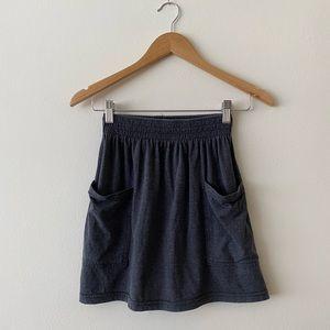 American Apparel jersey pocket skirt